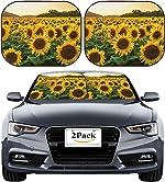 MSD Car Sun Shade Windshield Sunshade Universal Fit 2 Pack, Block