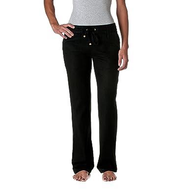 Love Tree Women's Linen Drawstring Pants, Black, Small at Amazon ...