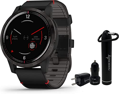 Garmin Legacy Saga Series Special Edition Smartwatch with Included Wearable4U Power Pack Bundle Darth Vader 45mm