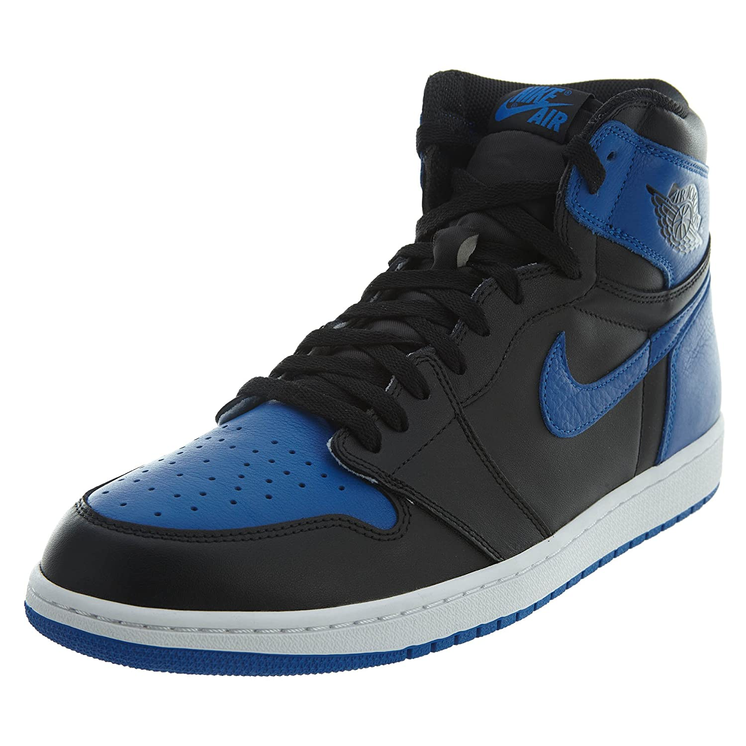 huge discount 79778 c1f19 Amazon.com  Nike Mens Air Jordan AJ 1 High Top Shoe, Royal BlueBlackWhite,  9.5 D(M) US  Basketball