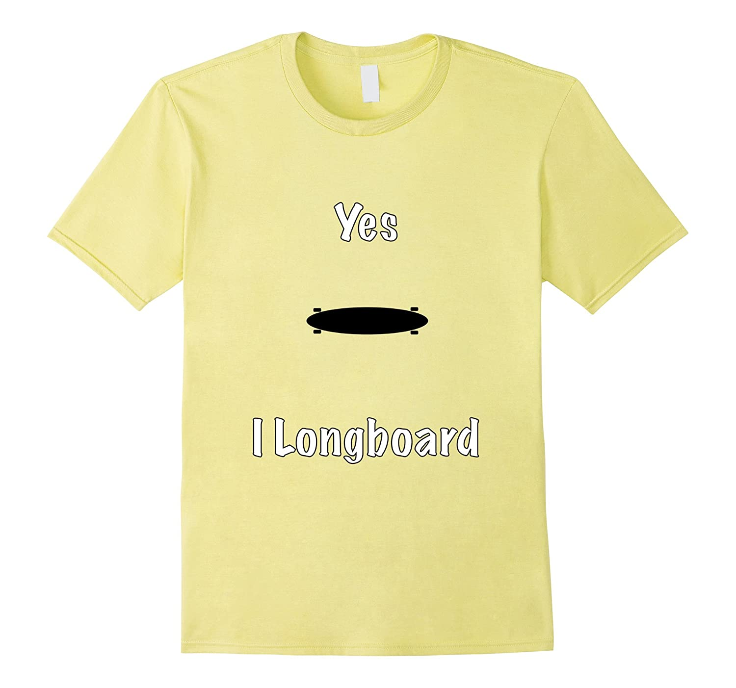Yes I Longboard Skate T-Shirt-CD