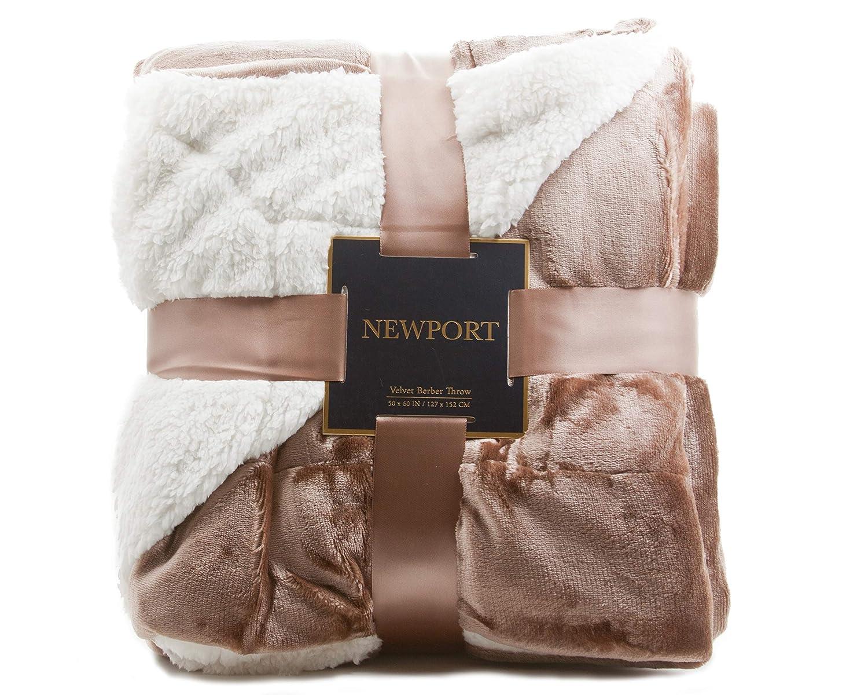 2566c26276 Amazon.com  ReLive Reversible Velvet Luxury Berber Throw Blanket 50x60   Home   Kitchen