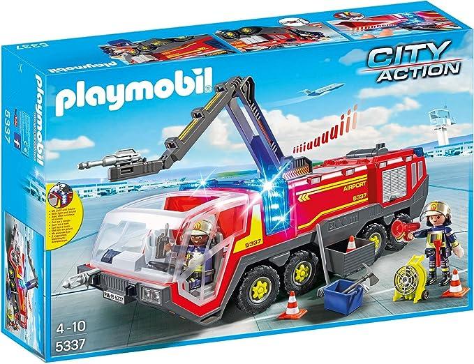 Playmobil 5337 Flughafenlöschfahrzeug Mit Licht Und Sound Amazon