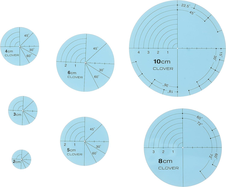Multicolor Patchwork Ruler Circular Template Ruler Pressing Circular Template