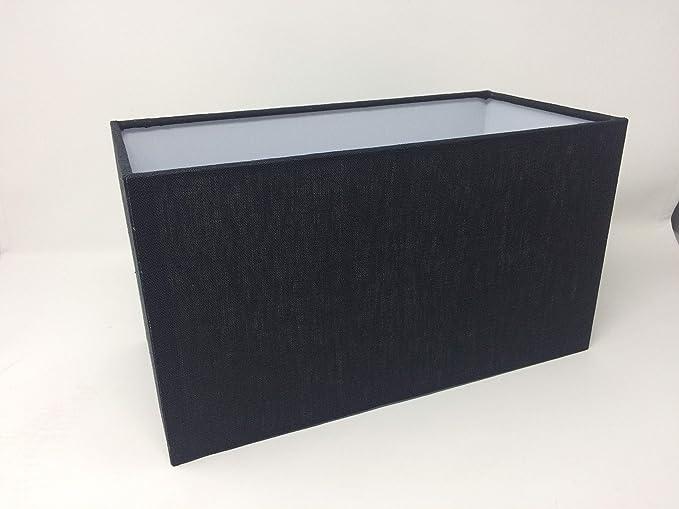 Pantalla de tela E27 rectangular 32 x 16 cm pantalla de tela ...