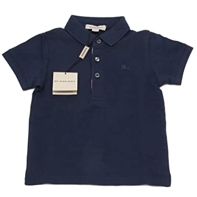 Burberry - Polo - para niño azul turquesa XXX-Small: Amazon.es ...