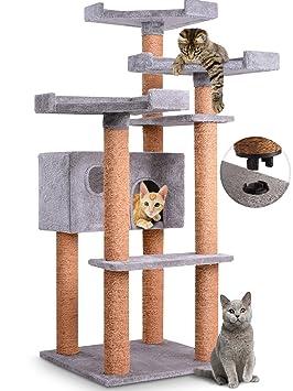 leopet – Rascador para gatos Árbol parte de algodón con Quick Connect Conexión aprox. 71,4/71,4/127,4 cm en del Color Después de Su Elección