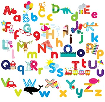 Whimsical Alphabet Decorative Peel U0026 Stick Wall Art Sticker Decals