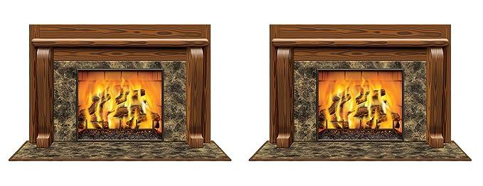 Amazon Com Beistle S20193az2 Fireplace Insta View 2 Piece