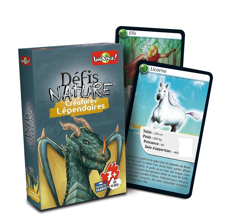 jeu de cartes défis nature - thème créatures légendaires