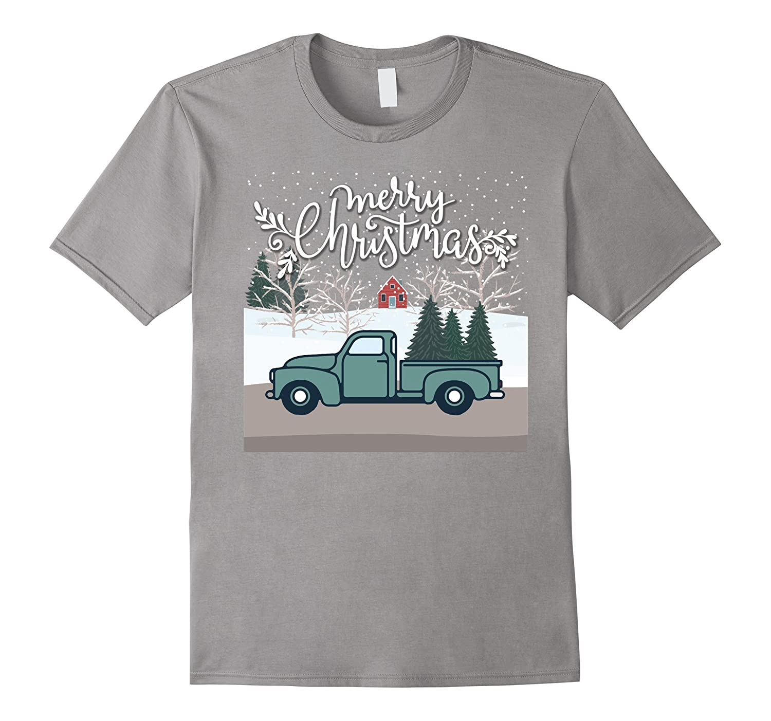 Merry Christmas Vintage Christmas Tree Truck T Shirt-ANZ