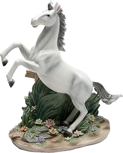 Cosmos Gifts 20847 White Beauty Ceramic Horse Figurine