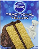 Pillsbury Traditional Cake Mix, Yellow, 15.25 Ounce (Pack of 12)