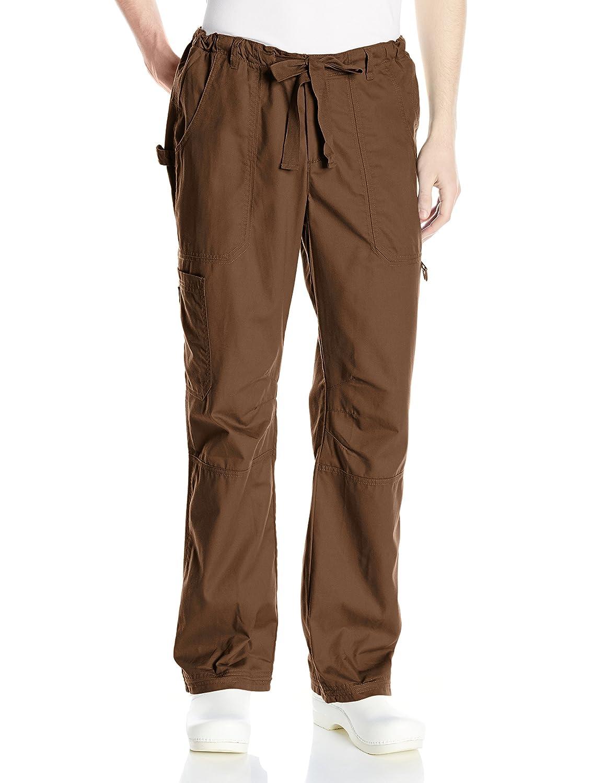 Koi Mens James Elastic-Waist Scrub Pants with Zip Fly and Drawstring Waist