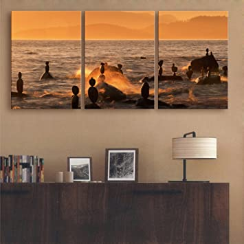 Meer Felsen Triple Aufhängen Bilder Ohne Rahmen Malerei Dekorative Malerei  Für Wohnzimmer Esszimmer Esszimmer Studio