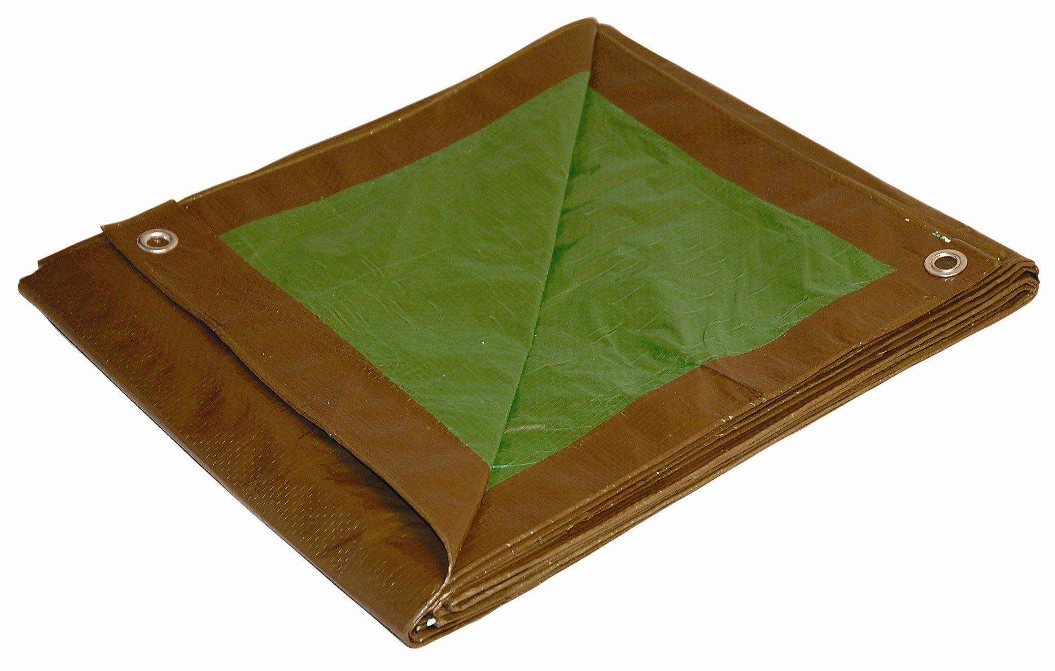 10' x 12' Dry Top Brown/Green Reversible Full Size 7-mil Poly Tarp item #110128