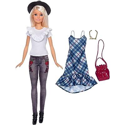 Barbie Fashionistas Denim Floral Doll: Toys & Games