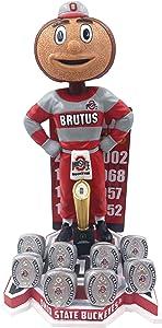 Brutus Buckeye Ohio State Football National Champions Special Edition Bobblehead NCAA