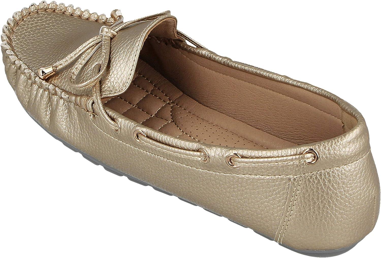 Yinka Shoes Mocassins plats /à enfiler et /à enfiler pour femme Similicuir