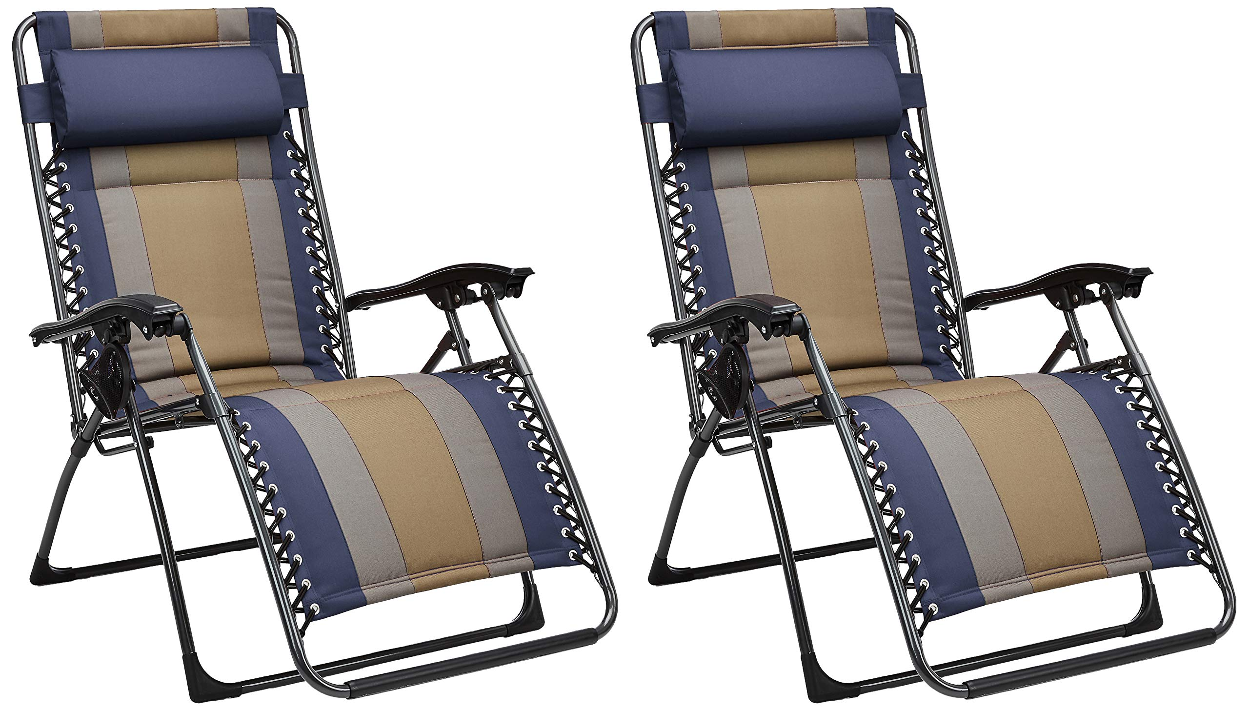 AmazonBasics Padded Zero Gravity Chair- Blue, 2 Pack by AmazonBasics