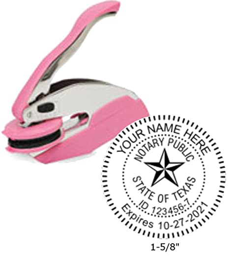 Breast Cancer Awareness Trodat Ideal Notary Seal Embosser | Texas