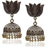Sajja Earrings for Women Party Wear Earrings for Women earrings for women earrings for women traditional Indian Ethnic Jhumka Rajasthani Lotus shape Jhumka Jhumki For Festive Earrings for Girls & Women