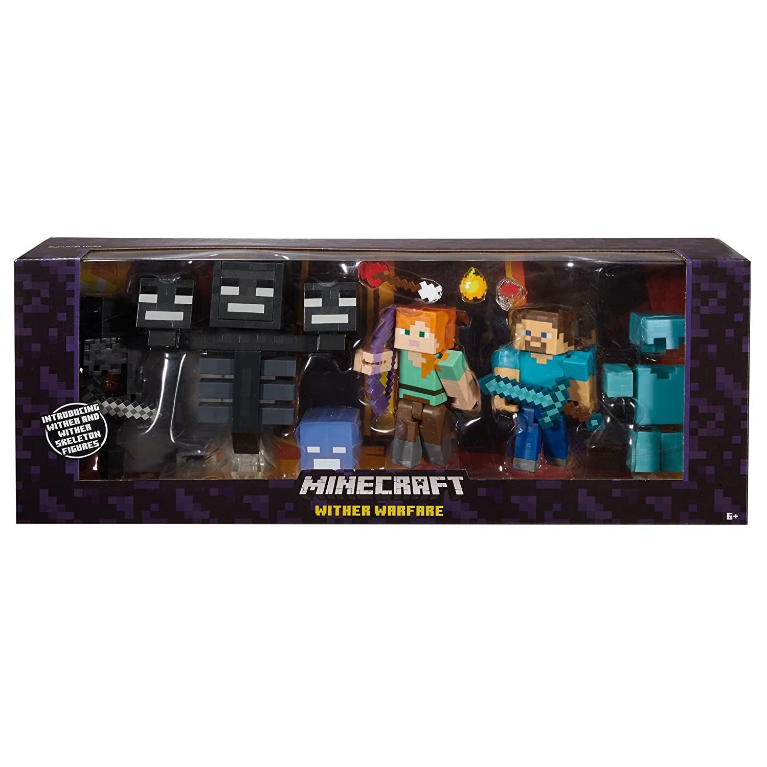 Amazon Com Minecraft Wither Warfare Multipack Toys Games