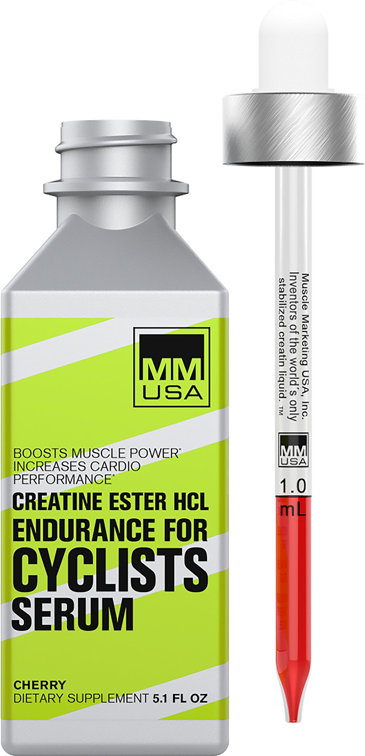 Endurance cycling serum by MMUSA, Improves Core Strength, Stable Creatine HCL, Defeats lactic acid, Energy, Endurance + Power. No water gains. Guarana, L-Carnitine, Rhodiola Rosea + Green tea.
