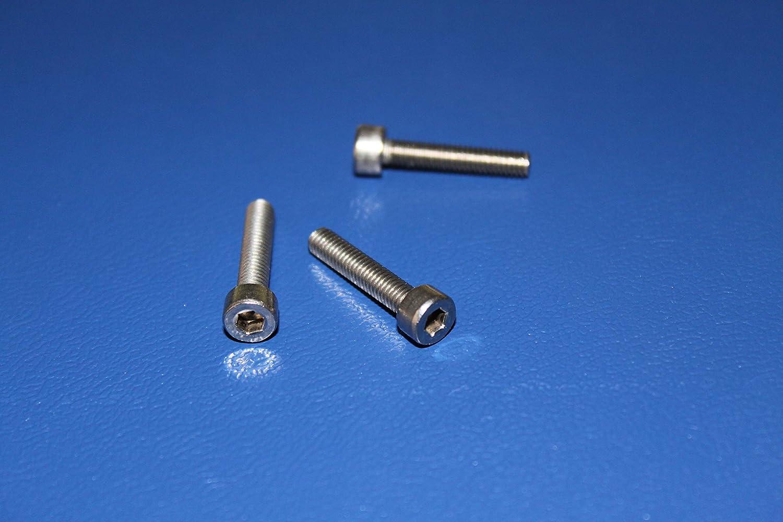 V2A DIN 912 50, M3x8 mm 50 St/ück Zylinderschrauben M3x8 mm A2 Edelstahl Zylinderkopfschrauben Innensechskant Zylinder Schrauben