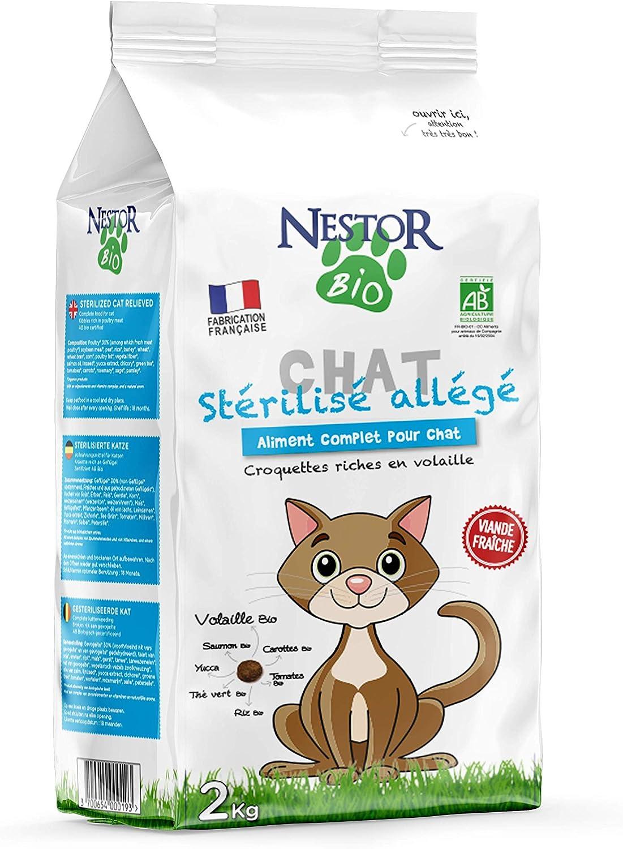 Néstor Bio - Croquetas ligeras orgánicas para gatos esterilizados ...