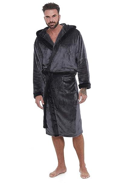 Albornoz para Hombre 100% Lana SPA Hotel Gimnasio Vacaciones Tallas M/L L/XL y XL/XXL: Amazon.es: Ropa y accesorios