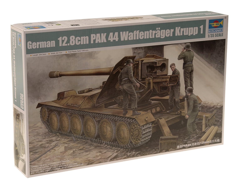 Trumpeter 05523 Modellbausatz 12,8cm PAK 44 Waffenträger Krupp 1 TSM-5523