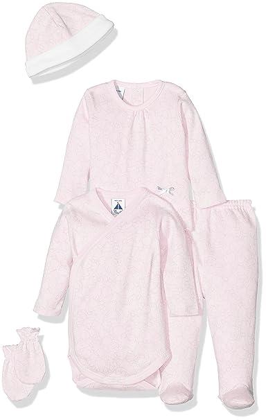 BABIDU Pack Nacimiento, Conjunto de Ropa Interior Bebe-Unisex, Rosa/Gris,