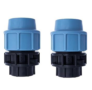 2 X Mdpe Pe Wasserrohr Kunststoff Druckminderer Armaturen 3 4 X