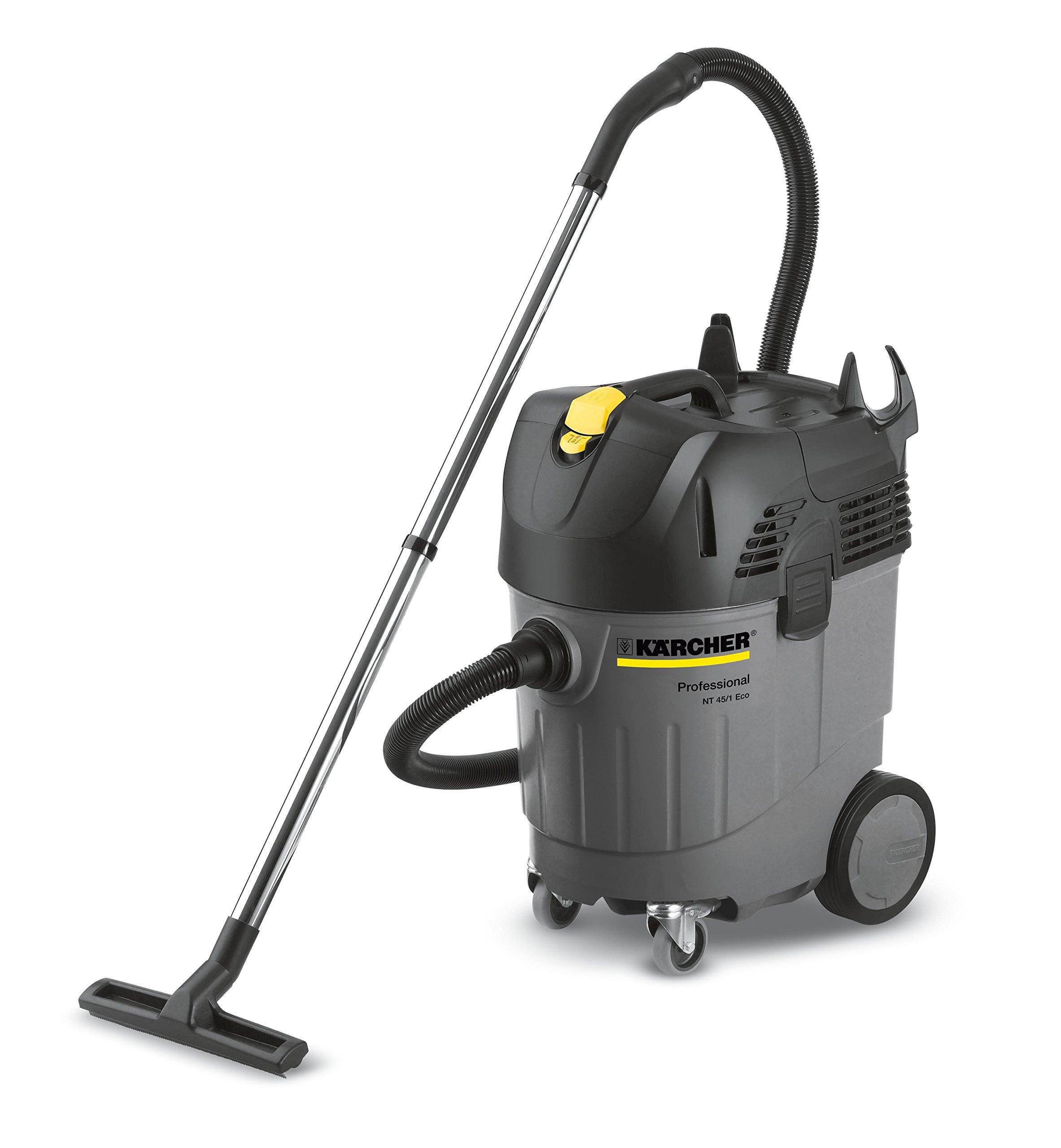 Karcher NT 45/1 Tact Professional Shop Wet Dry Vacuum, 1.85 HP, 10 gallon Dry & 7.9 Gallon Wet Capacity