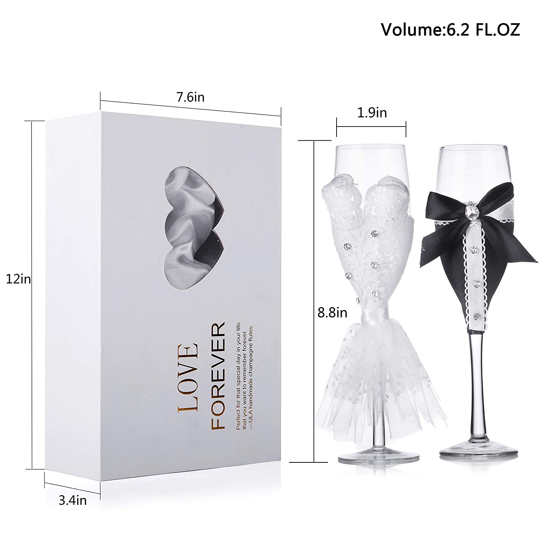 Amazon.com: ULA - Juego de 2 copas de champán hechas a mano ...