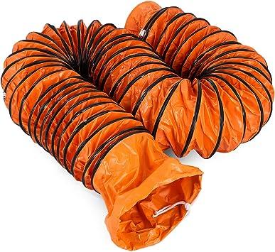 Moracle Tubo de Manguera de Ventilaci/ón 25 pies Port/átil Servicio Pesado Conducto de Ventilaci/ón de PVC Ventilador Flexible Conducto 300 mm