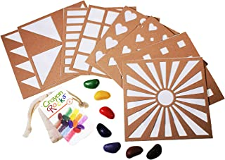 product image for Crayon Rocks Rubeez Texture Templates Plus 8 color crayons in a Muslin Bag