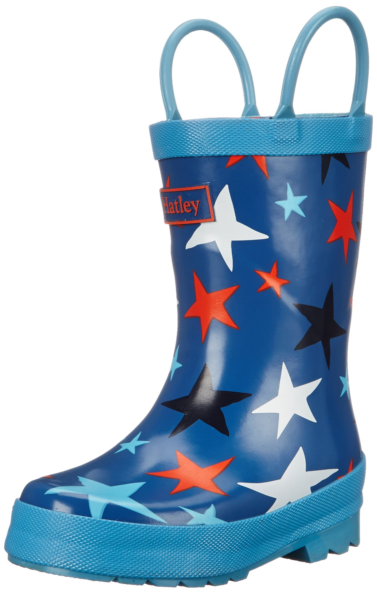 Hatley Boys' Rainboots Stars in Space, Blue, 6