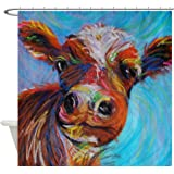 CafePress Bessie The Cow Decorative Fabric Shower Curtain