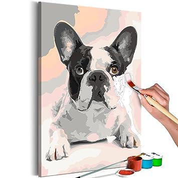 Murando Malen Nach Zahlen Hund Bulldog 40x60cm Malset Diy N A 0195