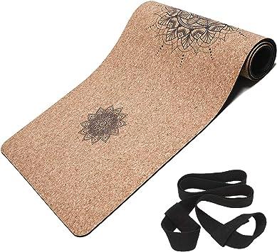 Amazon.com: Masdery - Esterilla de corcho para yoga, 72.0 x ...