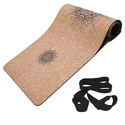 Masdery Cork Yoga Mat Non Slip Naturel Rubber 72
