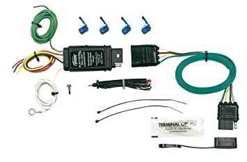 819ew17FVYL._SX355_ amazon com hopkins 46155 taillight converter universal kit universal trailer wiring harness at gsmx.co
