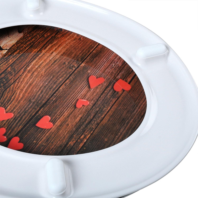 Edelstahlscharniere 2454 Fast Fix mit Abesenkautomatik Deco Design Woltu #22 WC Sitz Toilettensitz aus Duroplast NEU/&OVP