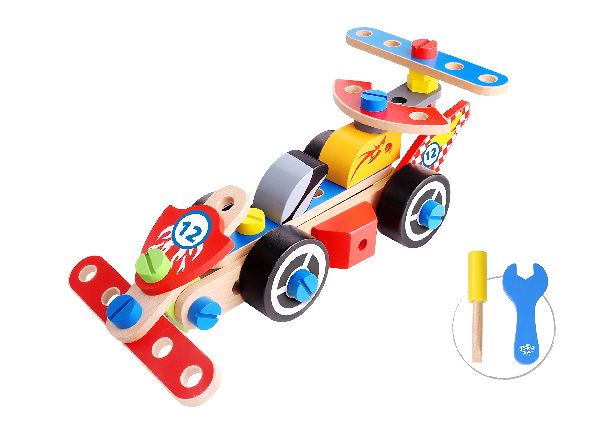 Toysy Toys DIY Race Cars Wood-Made Educational Toy