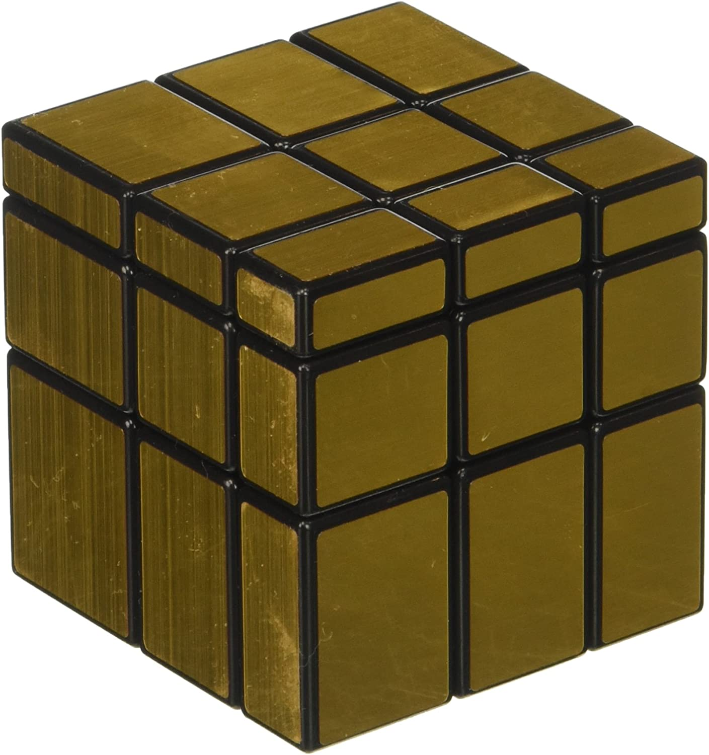 Amazon Com Shengshou 3 X 3 Gold Mirror Cube Puzzle Toys Games