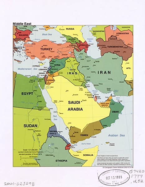 Map Poster - Middle East / 24 X 19 on if the us map, if germany map, if africa map,
