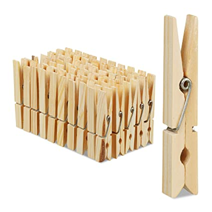 Approx 5cm UK Seller Small Pegs 4.8cm  Natural Wooden Peg Clip Clamp Wood