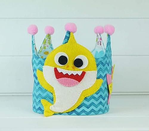 Corona Cumpleaños Baby Shark: Amazon.es: Handmade